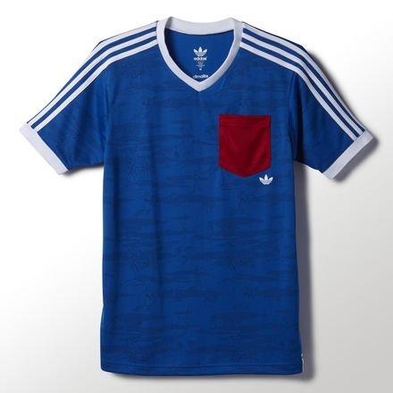 adidas Originals Men's The New Jerzey T-Shirt Blue M
