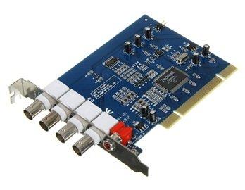 FSLH-1609 4 Channel DVR PCI Surveillance Video Capture Card (Blue) 4 Channel Dvr Pci