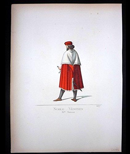 Noble Venitien, Hand- Colored Plate1860-61, Paris for