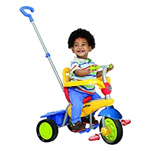 smarTrike Breeze Baby Tricycle/Trike, Yellow/Red/Blue, Multicolor