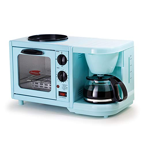 Elite Cuisine EBK-200BL Maxi-Matic 3-in-1 Multifunction Breakfast Center, - Microwave Camping
