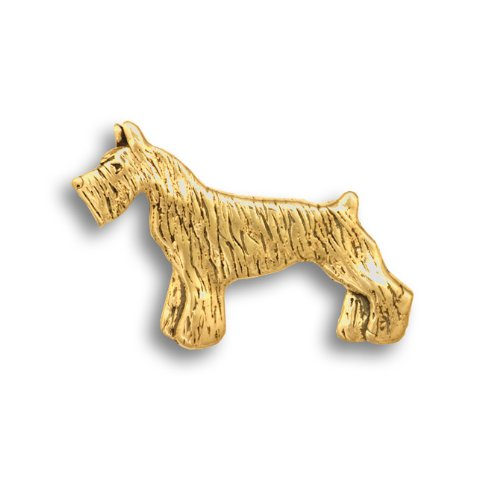 (14k Gold Schnauzer Pin by The Magic Zoo)