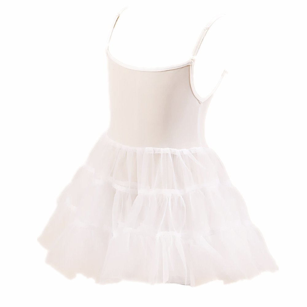 Edress Little Girls White Bouffant Slip Petticoat Extra Full 4t-6t (4T-6T, White)