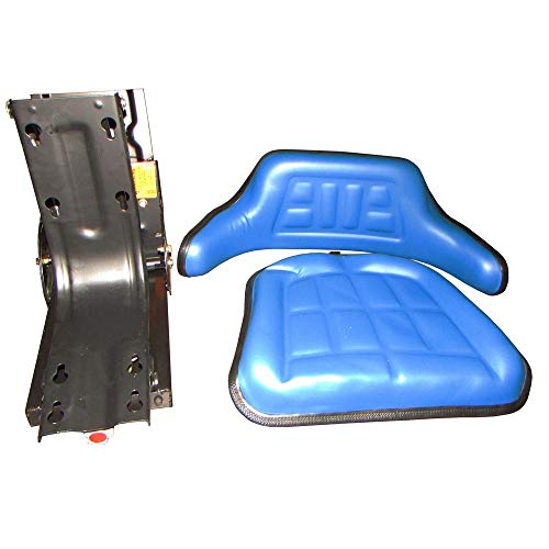 Universal Fit Blue Tractor Seat for Ford 2000 3000 4000 5000 7000 Hesston More (5000 Ford Tractor)
