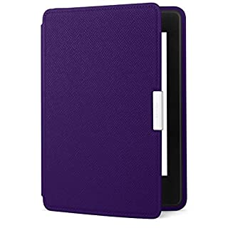 Amazon Kindle Paperwhite Leather Case, Royal Purple - fits all Paperwhite generations prior to 2018  (Will not fit All-new Paperwhite 10th generation)