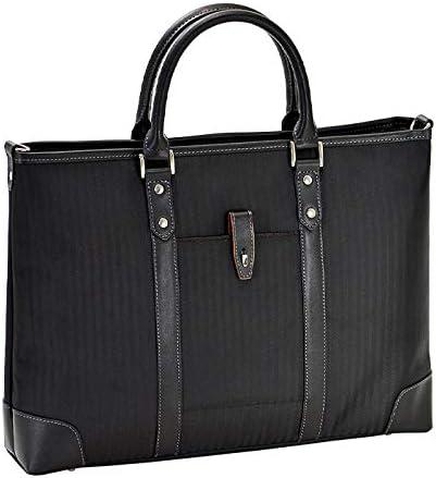 平野鞄 ビジネスバッグ ショルダーバッグ メンズ ブリーフケース B4ファイル A4 ショルダー付き 2WAY 黒 紺 ブラック ネイビー 横幅43cm +オリジナル高級ムートングローブ