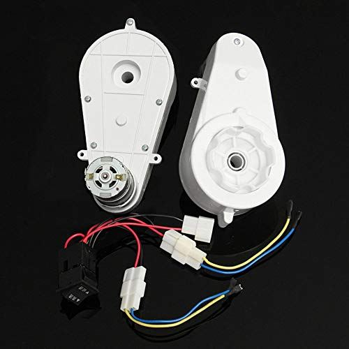 SEN 2pcs 12V 30000 RPM Scatola Ingranaggi Motore Elettrico Pratico per Bambini Bicicletta Auto Giocattolo Bianco