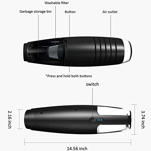 HL-TD Aspirateur De Voiture Portable Aspirateur sans Fil Rechargeable 7kPa Aspirateur À Main sans Fil Multifonctionnel