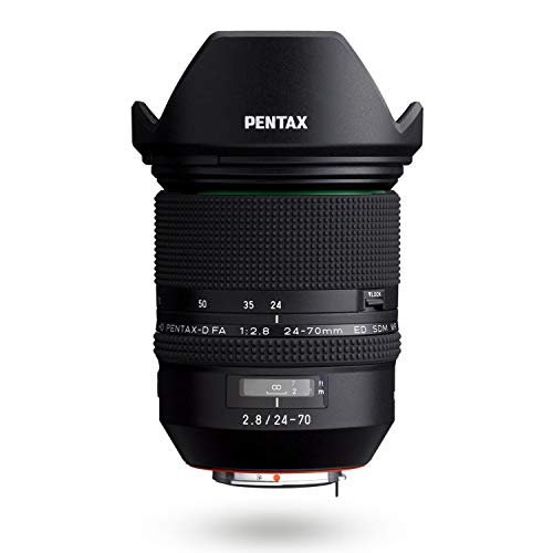 HD PENTAX-D FA 24-70mmF2.8ED SDM WR High-Performance Standard Zoom Lens 24mm Ultra-Wide Angle Weather-Resistant Construction Exceptional Imaging Power ED Glass Aspherical Lens Latest Lens Coating