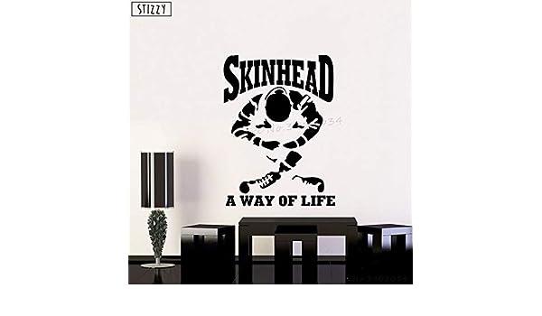 yaoxingfu Tatuajes de Pared Skinhead Un Modo de Vida Que Dice ...