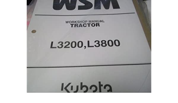 kubota l3200 l3800 kubota service manual kubota amazon com books rh amazon com Kubota L3200 Accessories Kubota L3200 Manual