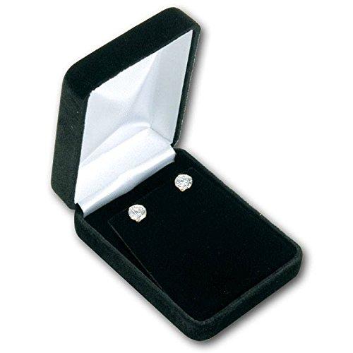 Black Velvet Jewelry Earring or Jewelry Pendant Box ~ Packs of 12
