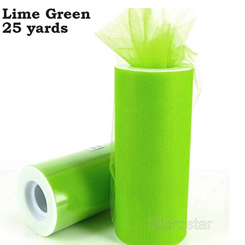 FairOnly Gold Tulle Roll 25 100Yard Organza Roll Tulle Rolls Spool Tutu Wedding Decoration Birthday Party Kids Favors Baby Shower Lime Green 25yrd]()