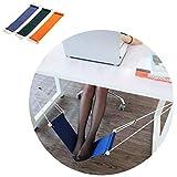 HaloVa Foot Hammock Portable Adjustable Office Foot Rest, Mini Under Desk Foot Rest Hammock for Home, Office Study and…