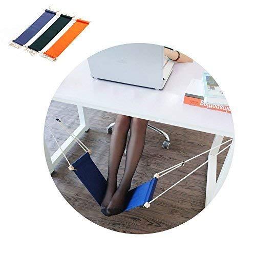 HaloVa Foot Hammock Portable Adjustable Office Foot Rest, Mini Under Desk Foot Rest Hammock for Home, Office Study and Relaxing, Black