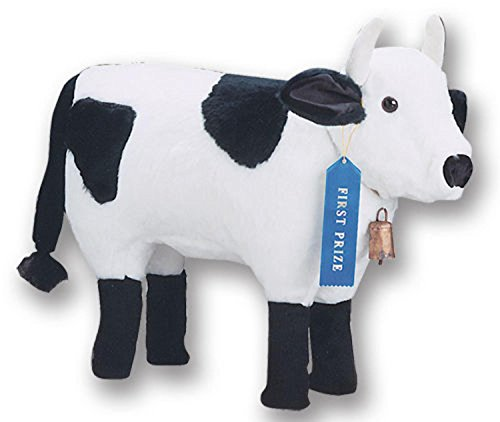 "29"" Soft Plush Standing Holstein Cow Stuffed Footrest Ott..."