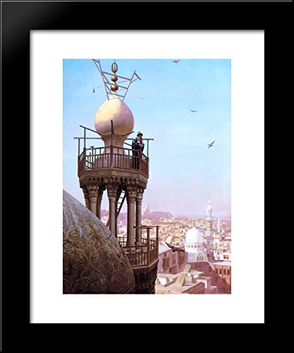 A Muezzin Calling from the Top of a Minaret the Faithful to Prayer 20x24 Framed Art Print by Jean-Leon Gerome