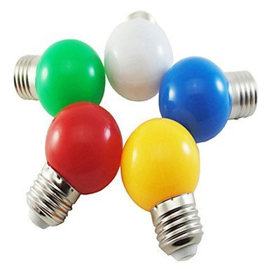 Lights Bulbs, 1W E26/E27 LED Globe Bulbs G45 5 SMD 2835 90-100 lm Natural White Red Blue Yellow Green K Decorative AC 220-240 V (Color : Red)
