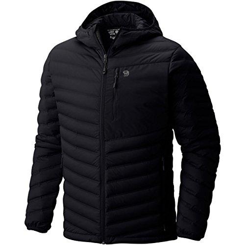 Mountain Hardwear StretchDown Hooded Jacket - Men's Black Large