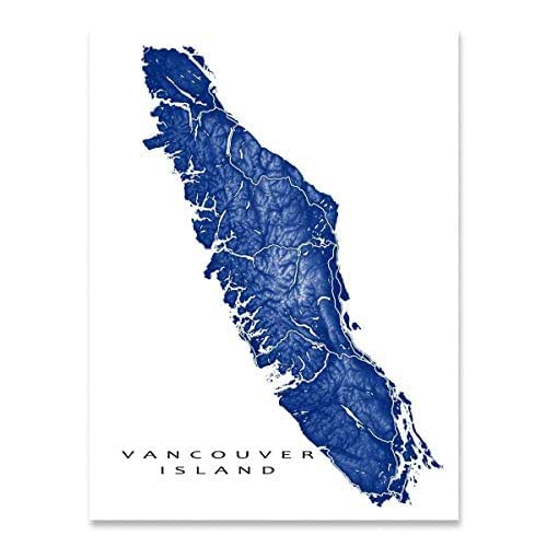 Tofino Canada Map.Amazon Com Vancouver Island Map Art Print British Columbia Canada