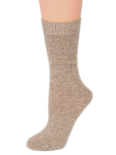 Cashmere Blend Socks - Womens Cashmere Blend Socks Super Luxe Crew Socks Marl Great Gift Idea 3 Colors Color:: Oatmeal Marl