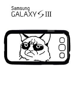 Grumpy Cat Cartoon Meow Geek Mobile Cell Phone Case Samsung Galaxy S3 White