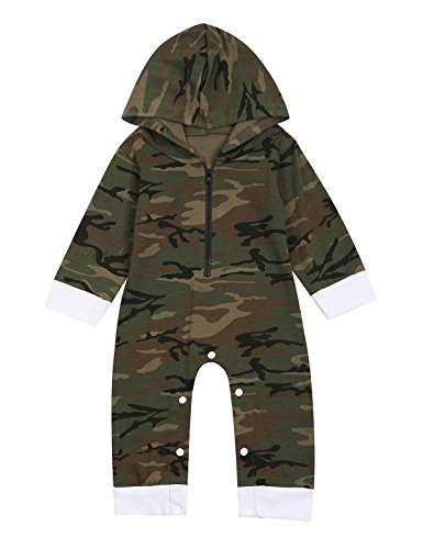 Paddy Field Baby Boys' Camouflage Cool Hippy Long Sleeve Romper (3-6 Months)