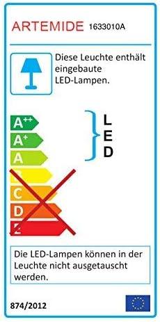 Artemide Wandleuchte LED Melete wei/ß