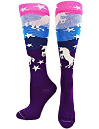 Neon Unicorn Athletic Over The Calf Socks