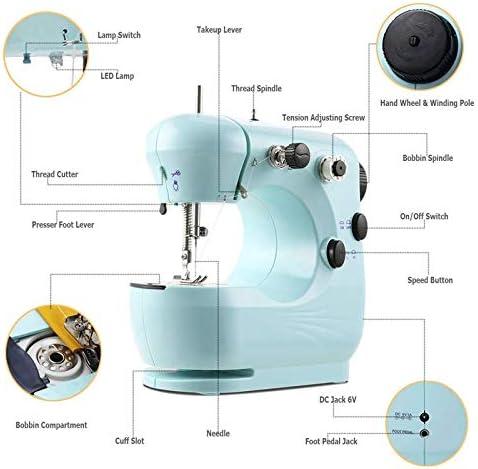 Sooiy Mini máquina de Coser para Principiantes, 2 Velocidad de ...