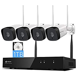 Flashandfocus.com 41SHOXpcENL._SS300_ [Dual WiFi, 2K Video] Kittyhok 3MP Wireless Security Camera System with 1TB HDD, 4Pcs Outdoor/Indoor WiFi Home…