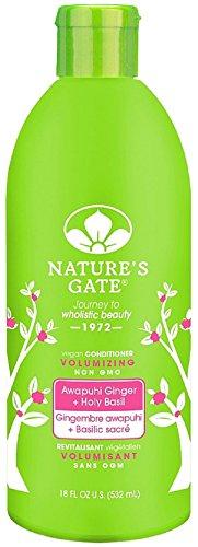 Nature's Gate Awapuhi Ginger + Holy Basil Volumizing Conditioner 18 oz (Pack of 10) (Gate Volumizing Natures Conditioner)