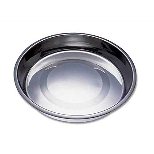 (MPP Puppy Pan Feeders Wide Flat Stainless Steel Dishes Dog Litter Saucer Style Bowls (14 Inch))