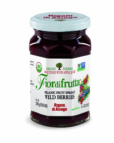 Rigoni di Asiago Fiordifrutta Organic Fruit Spread, Wild Berries, 6 Count