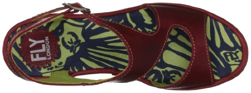 Fly London Sandali Bianca, Donna Rosso (Rot (Red))