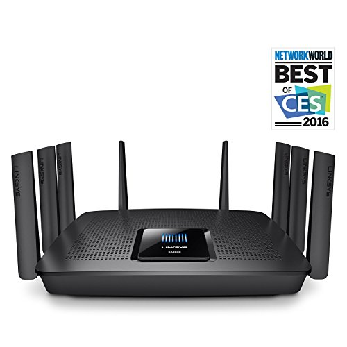 Linksys AC5400 Tri Band Wireless Router, Works with Amazon Alexa (Max Stream EA9500)