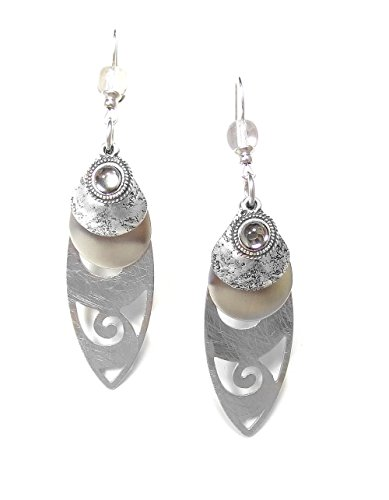 john-michael-richardson-silver-plated-crystal-bead-layered-oblong-chandelier-earrings