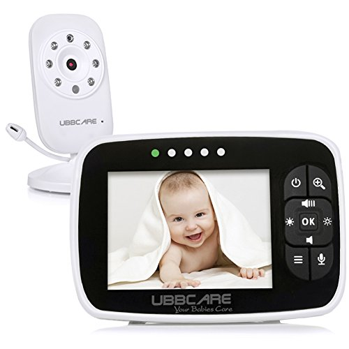 Home Video Baby Monitors Camera 3.5' Large LCD Screen Night Vision Two Way Talk Monitoring System