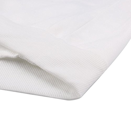 Sudadera,Vovotrade Mujeres de la camiseta de manga larga blanco