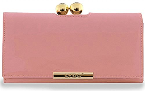 Genuine LYDC / KUKUBIRD GROSSY Metallic PVC Shiny Crystal Bubble matinee Ladies wallet, purse (Light Pink)
