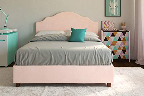 DHP Savannah Upholstered Platform Bed, Pink, Full