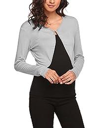 Women Long Sleeve Bolero Shrug Knit Cropped Knitwear Cardigan Sweater Shrug  Bolero Jackets 5caf1ba1b15a