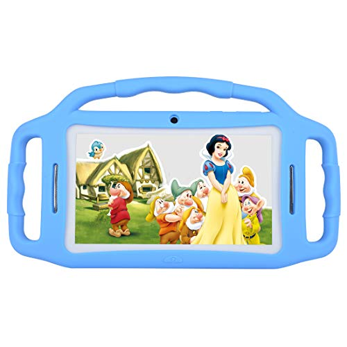 Kids Tablet Android 7.1, 7 Inch, HD Display, Quad Core, Children Tablet, 1GB RAM + 8GB ROM, with WiFi, Dual Camera, Bluetooth, Educational,Touch Screen Kid Mode,Parental Control (Blue)