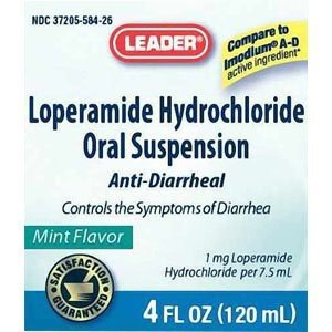 Anti Diarrheal Mint - PH4926374 - Cardinal Health - Pharma Leader Loperamide Hydrochloride Anti-Diarrheal Liquid, Mint, 4 oz.