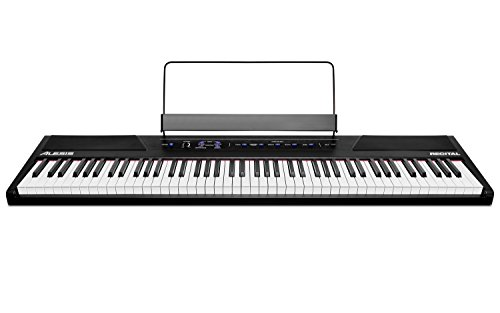 alesis recital 88 key beginner digital piano with full size import it all. Black Bedroom Furniture Sets. Home Design Ideas