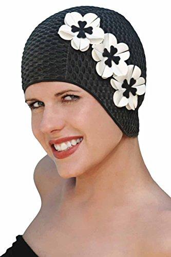 Vintage Retro Sheridan Swim Caps for Women - Flowers