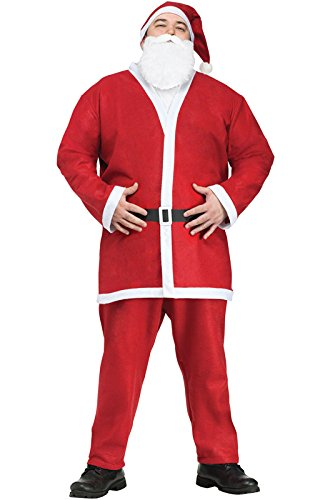 Fun World Costumes Men's Plus-Size Plus Size Adult Pub Crawl Santa Suit, Red/White, X-Large (Plus Size Costumes)