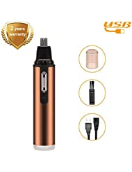 Nose Ear Hair Trimmer Rechargeable - 3rd Professional...