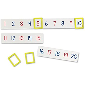 Amazon.com : Learning Resources Magnetic Number Line 1-100 ...