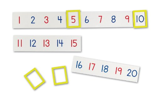 Learning Resources Magnetic Number Line 1-100, 20 Magnets, Sets of 5, Ages 3+